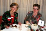 President Sally Saunders and Admin Bandit Nerida Gill at Bosom Buddies Chrismas in Winter dinner